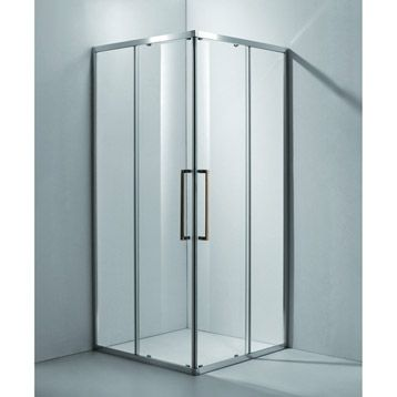 trendy von porte de douche duangle coulissante purity sensea verre scurit transparent cm with. Black Bedroom Furniture Sets. Home Design Ideas