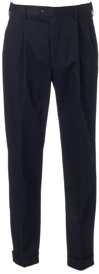 Big & Tall Croft & Barrow® Classic-Fit Pleated No-Iron Stretch Pants