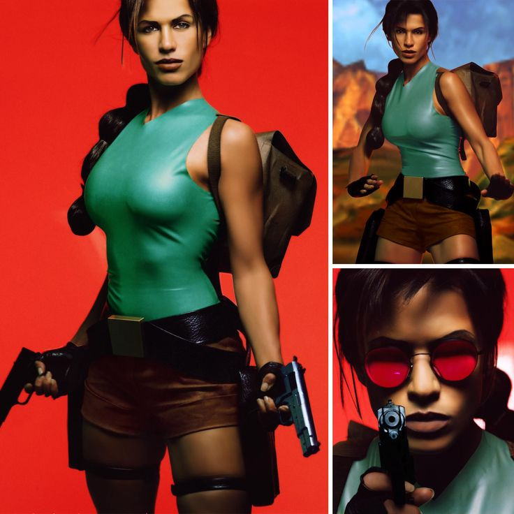 """Rhona Mitra was named the first """"Official Lara Croft Model"""" in 1997. In addition to traveling the world and representing Croft, Mitra released two albums in character, produced by Eurythmics' Dave Stewart. #TombRaider20"""