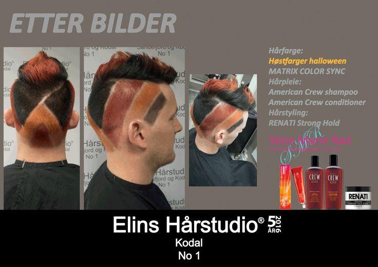 Herreklipp undercut mønster hårfarge høstfarge halloween
