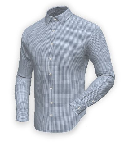 Blue checked 100% cotton Shirt http://www.tailor4less.com/en-us/men/shirts/2386-blue-checked-100-cotton-shirt