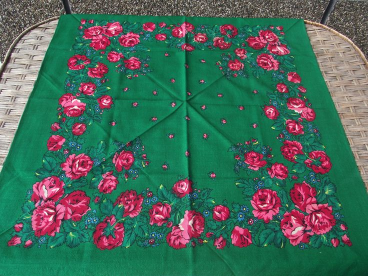 Vintage romanian wool shawl Russian scarf Soviet Floral Shawl old shawl russian neckerchief Gift Wool LAINE perfect gift for her Rare by RussianshawlMayya on Etsy
