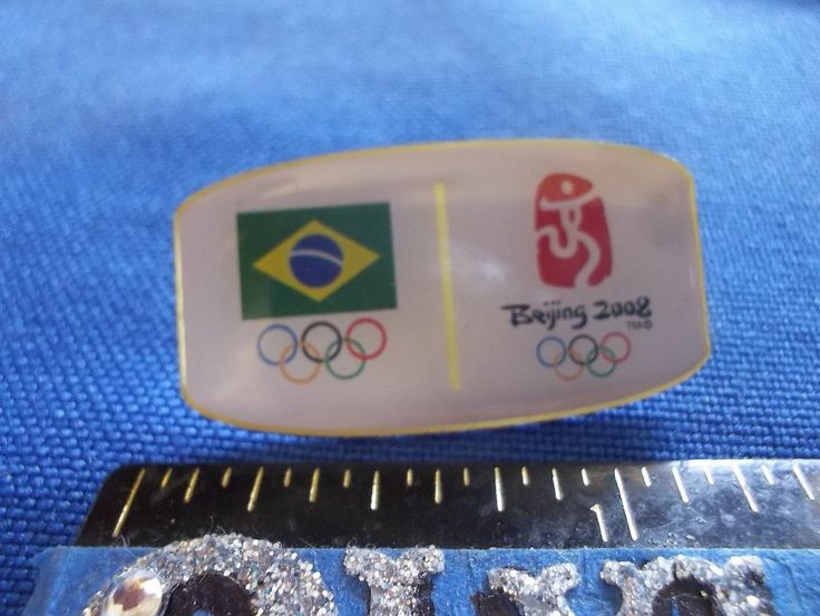 2008 Beijing Olympic NOC Pin Brazil Dated Logo Limited Only 2000 Made