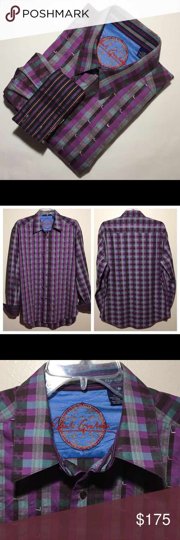 "Robert Graham Long Sleeve Flip Cuff Shirt Excellent condition. Robert Graham Button Down Cotton Woven Shirt Flip Cuffs  MEASUREMENTS: ACROSS SHOULDER: 20"" ACROSS PIT TO PIT: 24.5"" BACK LENGTH: 32"" SLEEVE LENGTH: 25.5"" Robert Graham Shirts Casual Button Down Shirts"