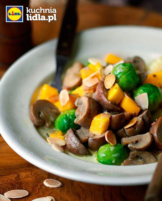 Gnocchi z grzybami i brukselką. Kuchnia Lidla - Lidl Polska. #lidl #ryneczeklidla #gnocchi
