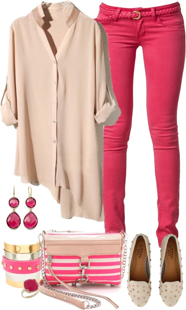 """""""Coloured Jeans for Spring"""" by angela-windsor on Polyvore"""