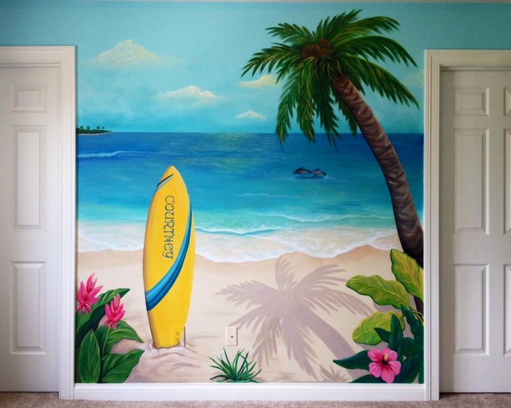 Best SURF ART Images On Pinterest Drawings Colors And Crafts - Artist paints incredible seaside murals balanced on surfboard