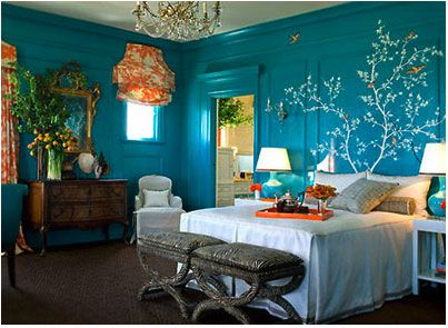 Peacock Inspired Colors Bedrooms Her Example Of This Bedroom By Kendall Wilkinson Design Is My