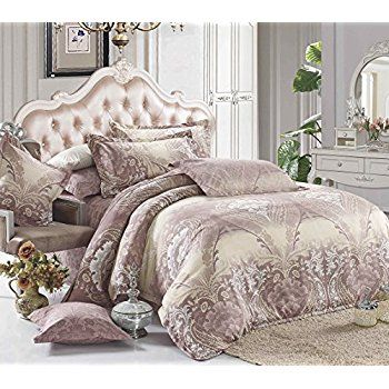 3 Piece Duvet Cover Pillow Cases Bedding Set Cotton Polyester Blend Emperor Size