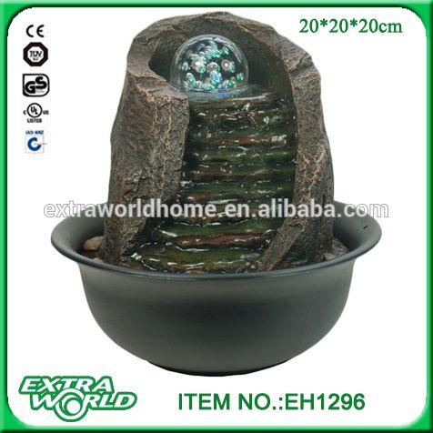 Mini Slap Waterfall Portable Water Fountain With Glass Ball