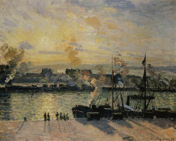 Sunset, the Port of Rouen, 1898.