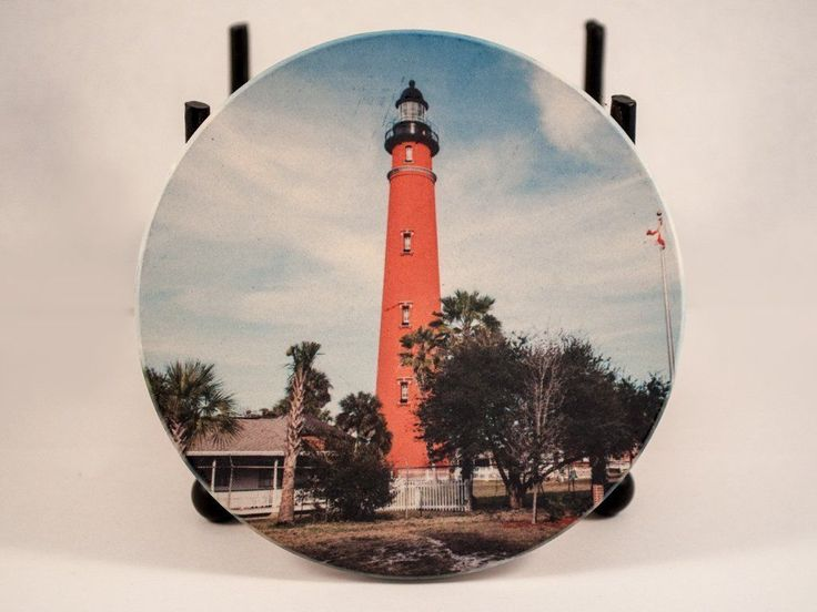 Coaster, Sandstone, Ponce Inlet Lighthouse Design, Photograph