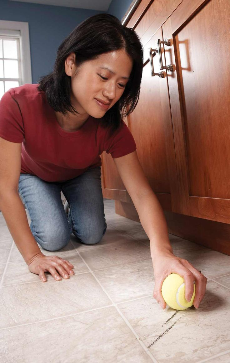 17 Secret Cleaning Tips From the Pros: Professional secrets that will make your house sparkle. Use an old tennis ball to remove scuffs from your floor!
