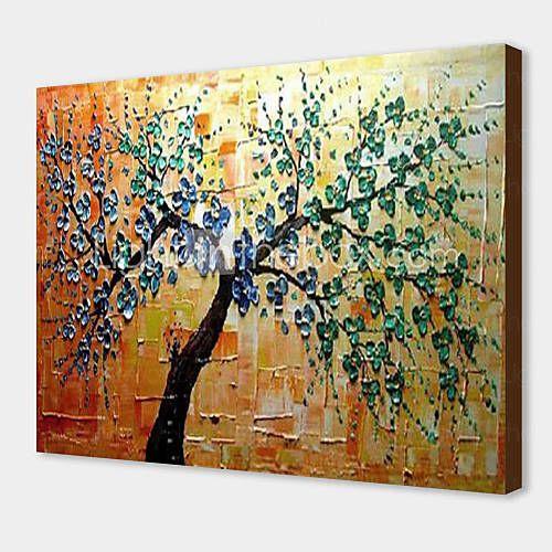 olieverfschilderij bloemen boom met gestrekte kader 1311-fl1144 met de hand beschilderd doek 2015 – €75.99