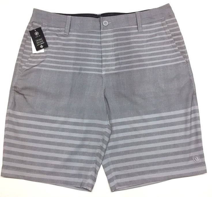 Hang Ten Mens Cruze Stretch Walking Skate Shorts Lightweight Quick Dry 36 Gray #HangTen #WalkingSkate