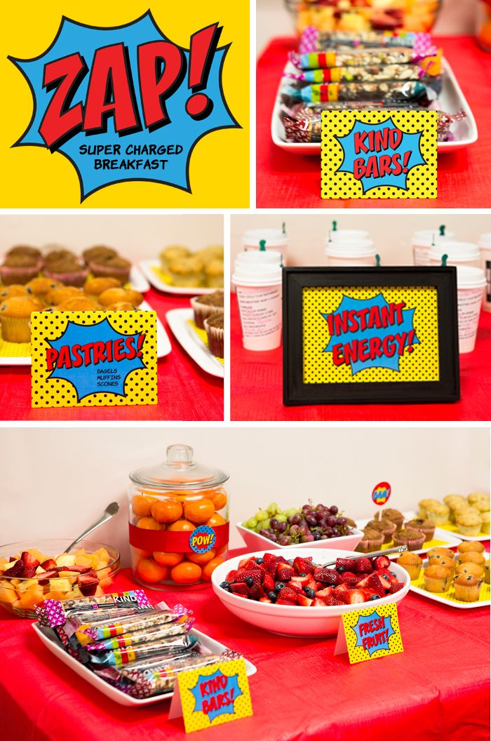 Super Charged Breakfast - Superhero Staff Appreciation Week