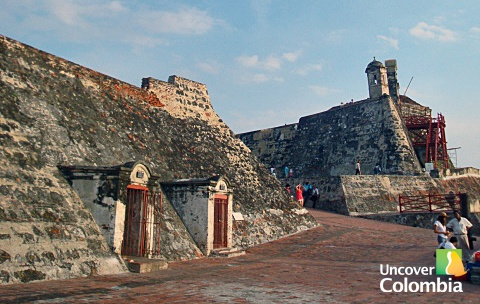 The walls and fort of Cartagena - Colombia