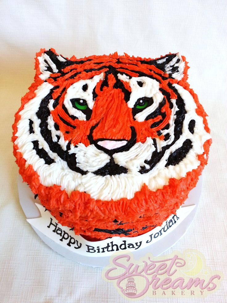 Tiger cake! From Sweet Dreams Bakery - Tennessee