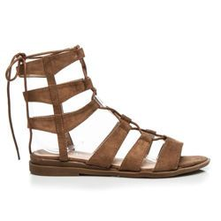 sandals Extremely trendy sandals, tied above the ankle, flat-heeled, comfortable and at the same time fit the character of each styling. http://cosmopolitus.eu/product-eng-95750-.html #Summer #sandals #comfortable #fashionable #Roman #women #tied #brown #stylish #casual