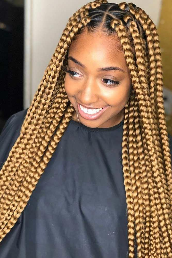 Box Braid Styling Ideas For Most Exquisite Tastes Glaminati Com Box Braids Styling Box Braids Hairstyles Big Box Braids