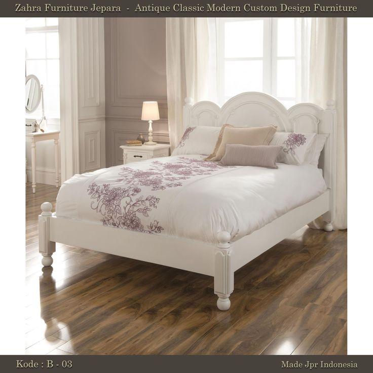 Zahra Furniture Jepara Dipan Antik minimalis white