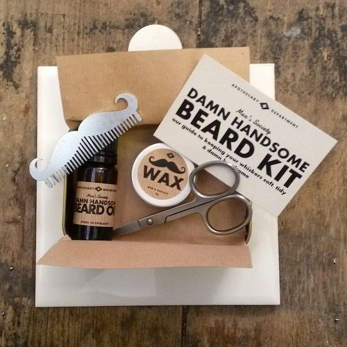 Beard Grooming by Mens Society. Beard Grooming kit by Men's Society. The small compact kit contains many of the essential products you will need to help moisturise and soften your beard and moustache. Your beard essentials are kept within