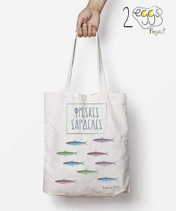 Market tote bag Greek tote bag Tote bag canvas summer tote