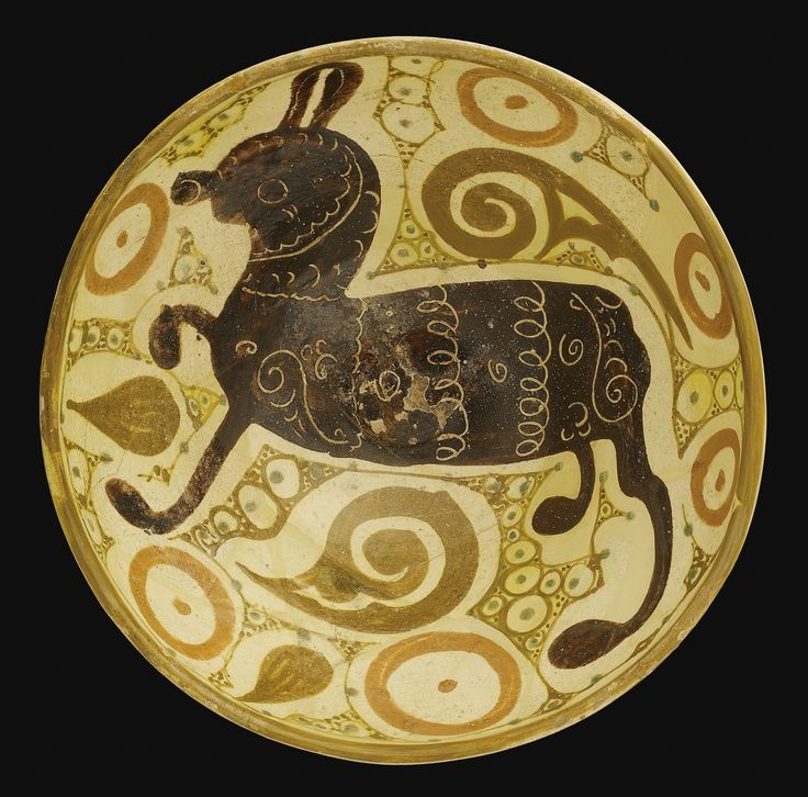 A Nishapur pottery Bowl with a quadruped, Eastern Persia, 10th century