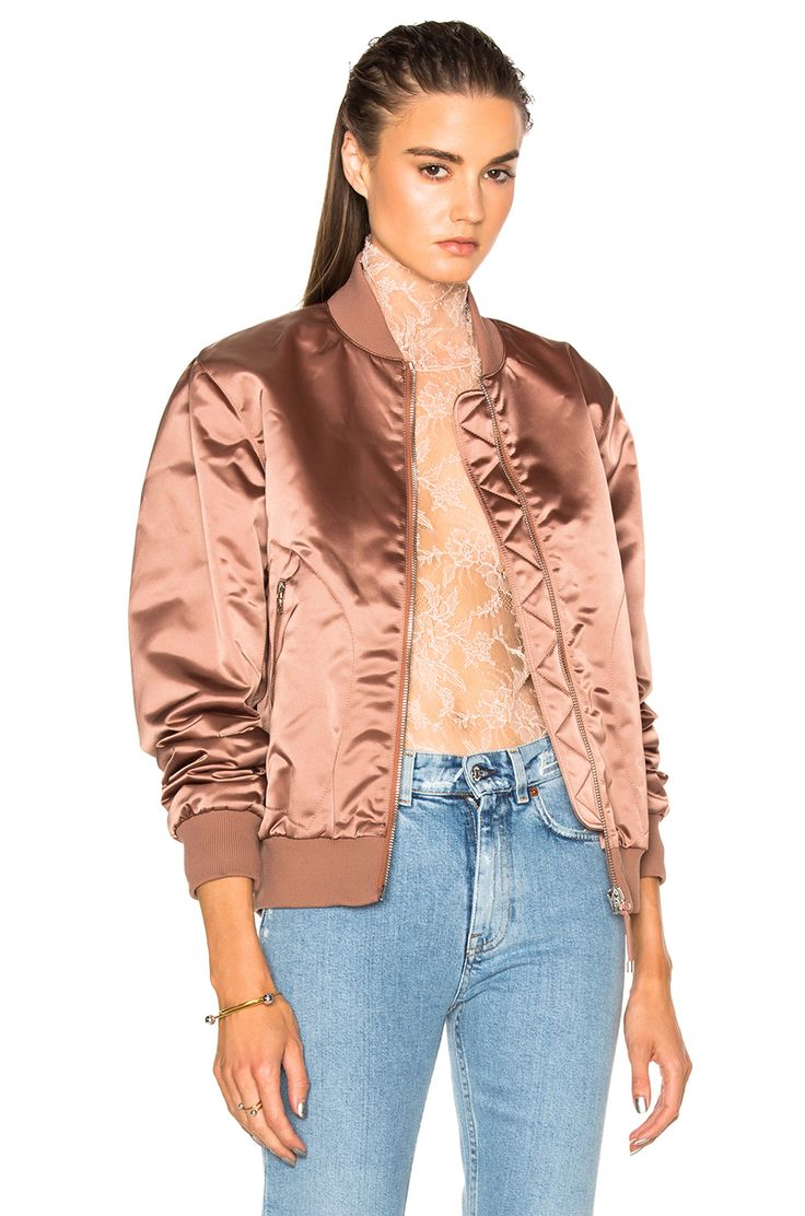 Sewing inspo: Acne Studios Azura Bomber Jacket in Pink