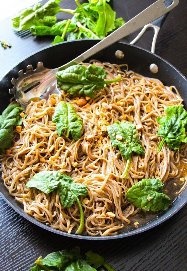 20-Minute Sticky Basil Thai Noodles | 21 Summer Pasta Recipes You Need In Your Life