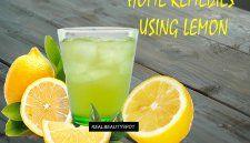 Home remedies using lemon - menstrual cramps, sore throat, and headache.