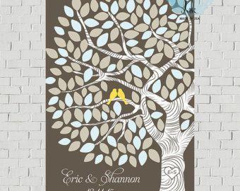 Matrimonio rustico Guest Book rustico Guest di MarshmallowInkLLC