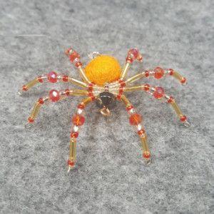 M076 Beaded Christmas Spider