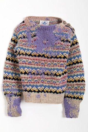 Re knit | Wool jumper | Repair detail | Fair isle | celia pym via textileandtrim.tumblr.com