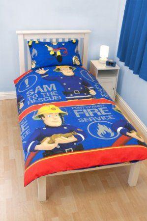 Fireman Sam Bedding Kids Single Duvet Cover Blue