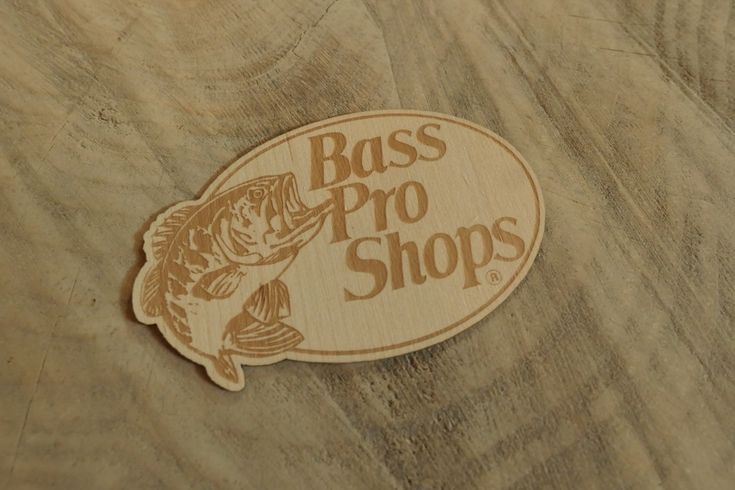 Bass pro classic etched maple wood sticker