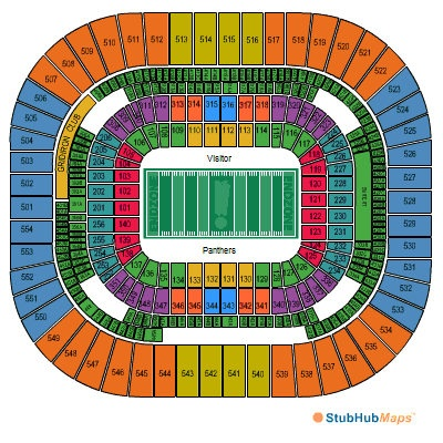Sweet! 4 CAROLINA PANTHERS VS NEW ORLEANS SAINTS TICKETS SEPT 16TH 2012