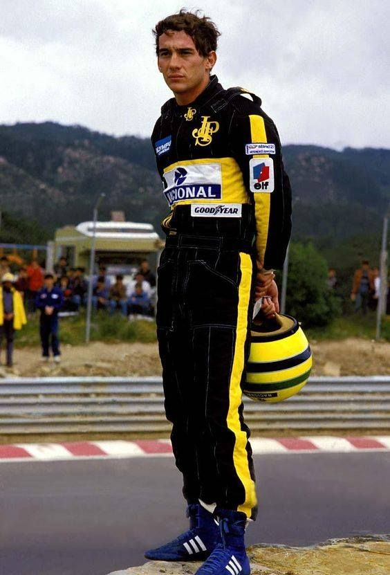 Ayrton Senna - Estoril (Portugal) 1985. (Saturday qualifying)
