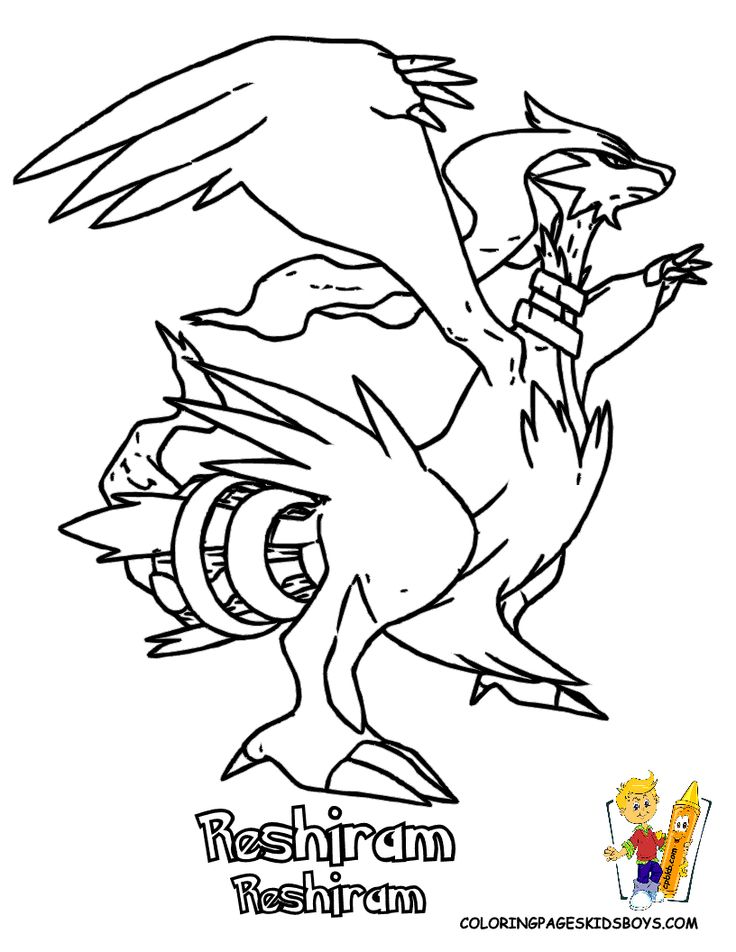 Pokemon Black And White Coloring Sheets Druddigon Genesect