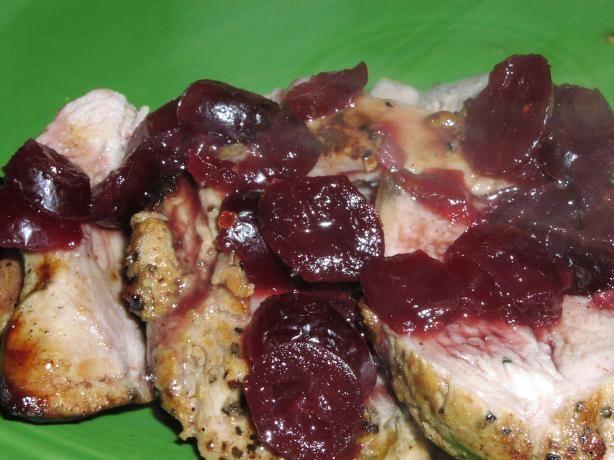 Pork Tenderloin With Gingered Cranberry (Or Cherry) Sauce (5 Pt | Rec ...