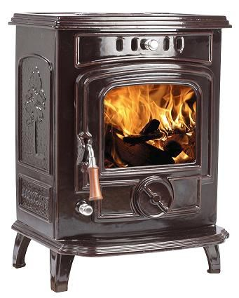 7KW Lilyking 627 Brown Enamelled Boiler Stove £790