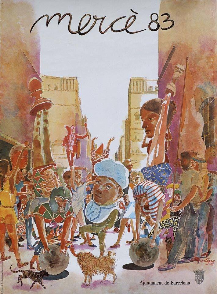 Barcelona. Festa Major 1983. Cartell de Frances Artigau