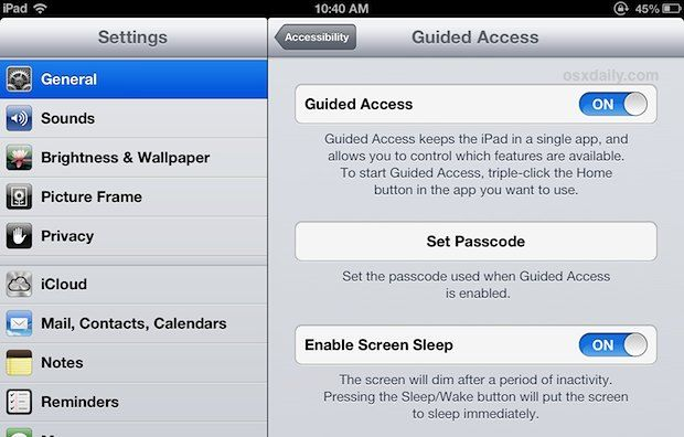 ******Enable Guided Access in iOS*****