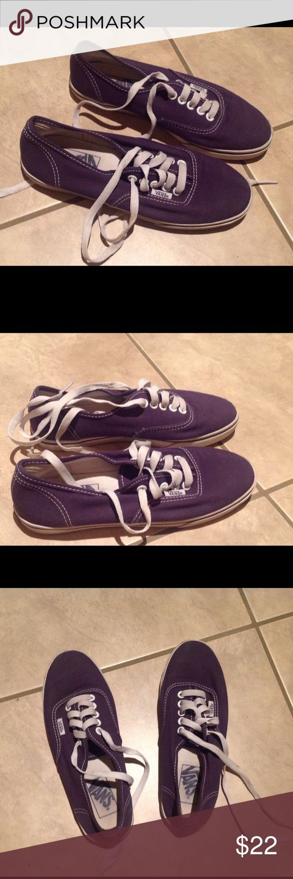 Vans shoes size 6 Used but still looks great! Navy blue Vans Shoes Sneakers