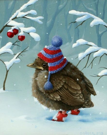 """pagewoman: """" Dressed for the snow by Susan Visser """""""