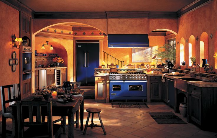 My favorite!! Viking Range offers several various colors of appliances, such as in cobalt blue.