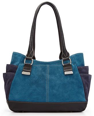 Tignanello Handbag, Suede Shopper - Tignanello - Handbags & Accessories - Macy's