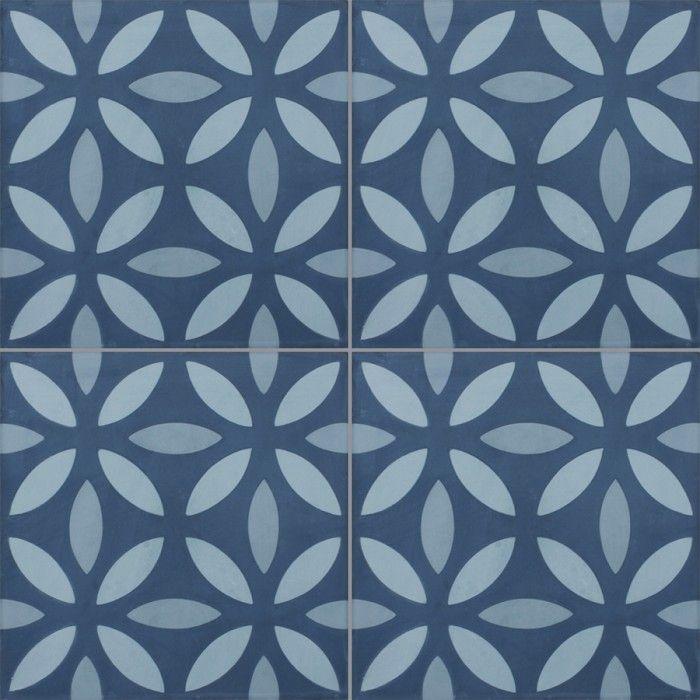 Carreau De Ciment Colore Motif Bleu Clair Bleu Pastel Et Bleu Noa