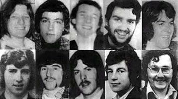The Ten 1981 Hunger Strike martyrs - From left to right, clockwise: Bobby Sands, Francis Hughes, Ray McCreesh, Patsy O'Hara, Joe McDonnell, Martin Hurson, Kevin Lynch, Kieran Doherty, Thomas McElwee, Michael Devine.