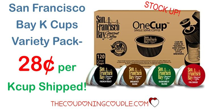 HOT DEAL! Stock up on K Cups! Get the San Francisco Bay K Cups Variety Pack for only $0.28 per K Cup shipped! Best price around!  Click the link below to get all of the details ► http://www.thecouponingcouple.com/san-francisco-bay-k-cups-variety-pack/ #Coupons #Couponing #CouponCommunity  Visit us at http://www.thecouponingcouple.com for more great posts!